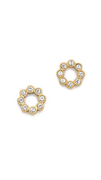 Marc Jacobs Crystal Dot Stud Earrings