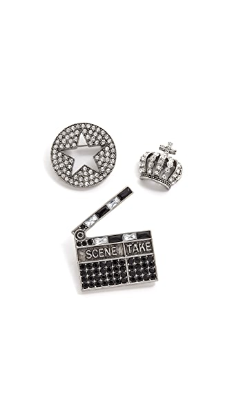 Marc Jacobs Cinema Brooch Set
