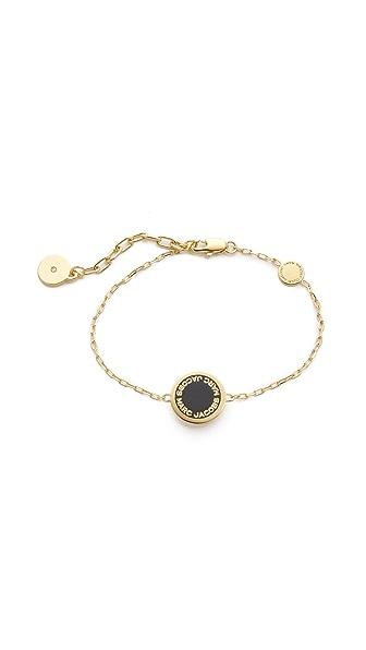 Marc Jacobs Enamel Logo Disc Bracelet - Black/Oro