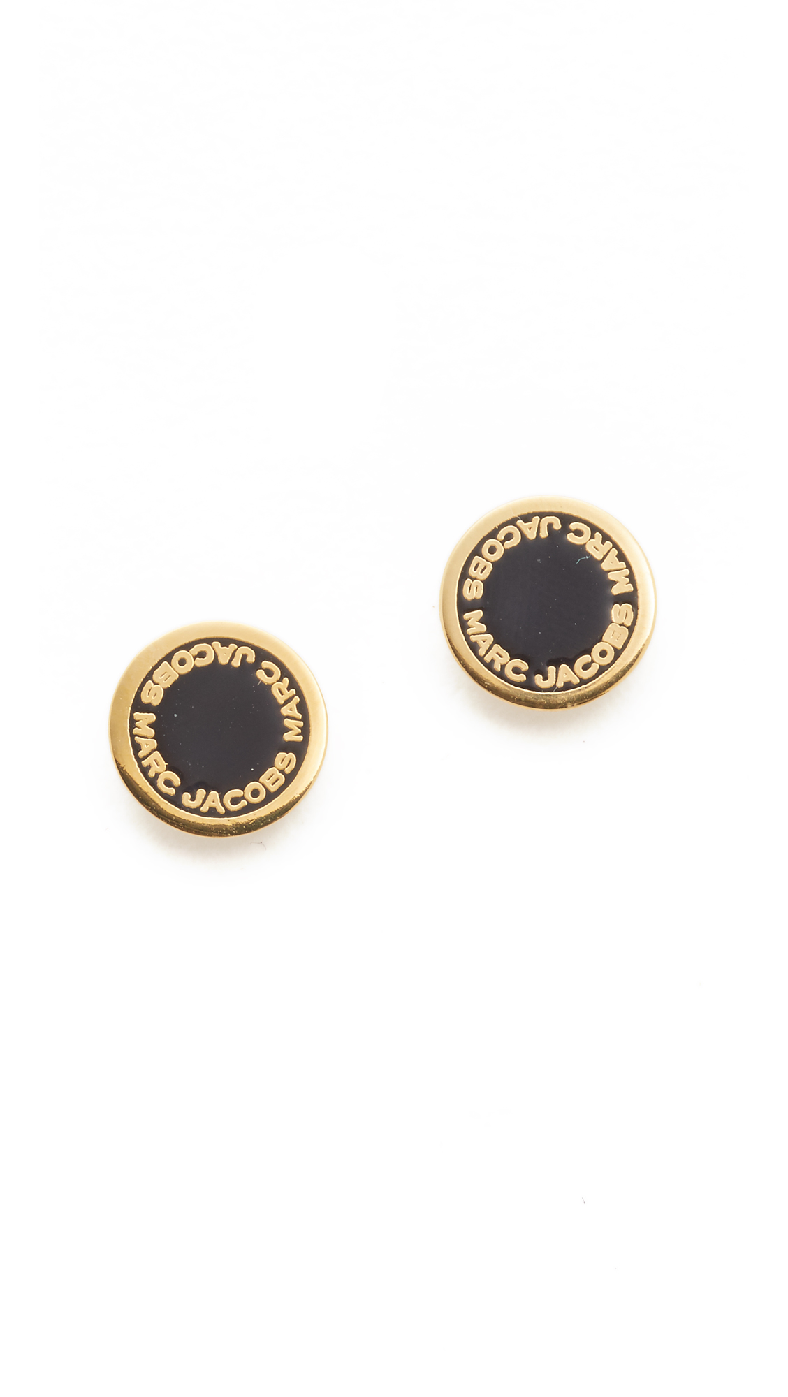logo disc studs marc jacobs
