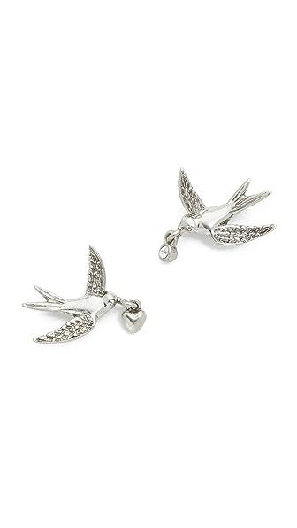 Marc Jacobs Swallow Stud Earrings