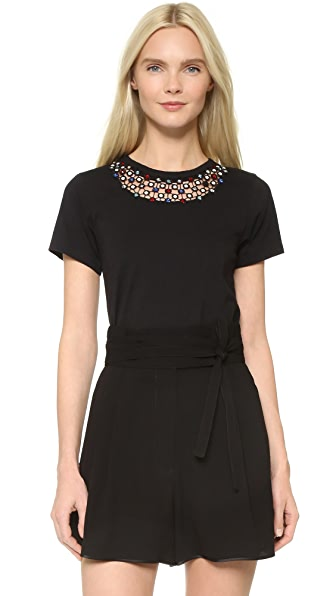 Marc Jacobs Short Sleeve Embellished Tee