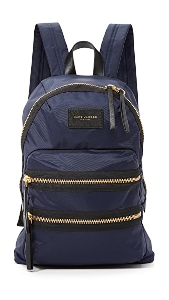 Midnight Blue Nylon Biker Backpack