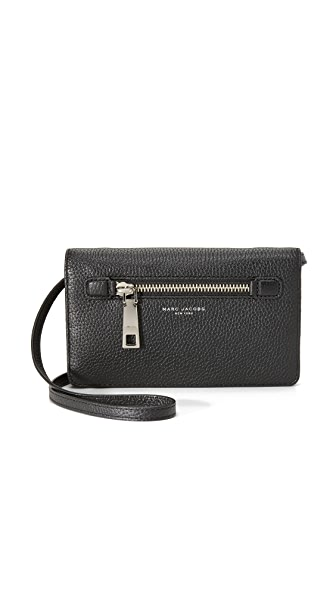 Marc Jacobs Wallet with Leather Strap - Black