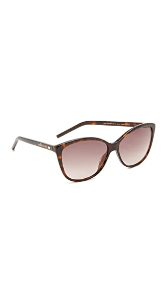 Marc Jacobs Easy To Wear Cat Eye Sunglasses - Dark Havana/Brown