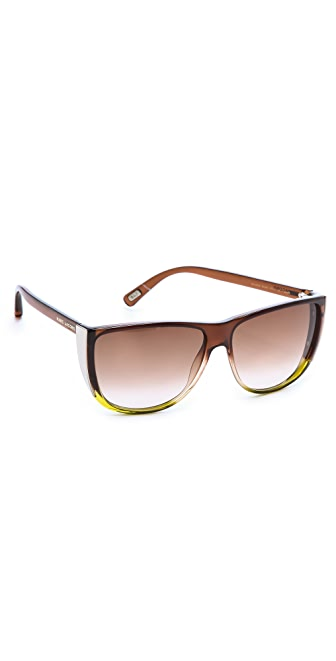 Marc Jacobs Sunglasses Flat Top Ombre Sunglasses