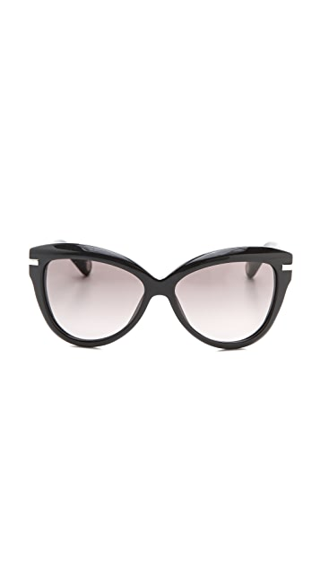 Marc Jacobs Sunglasses Exaggerated Cat Eye Sunglasses