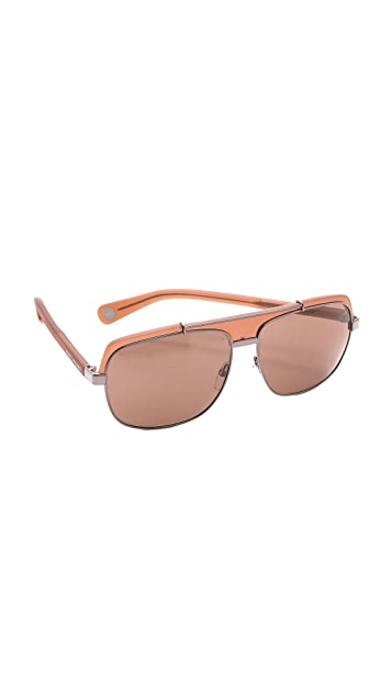 Marc Jacobs Sunglasses Flat Top Oversized Sunglasses