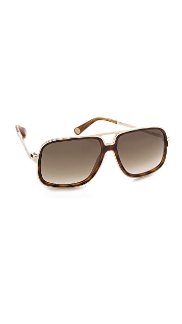 Marc Jacobs Sunglasses Keyhole Aviator Sunglasses