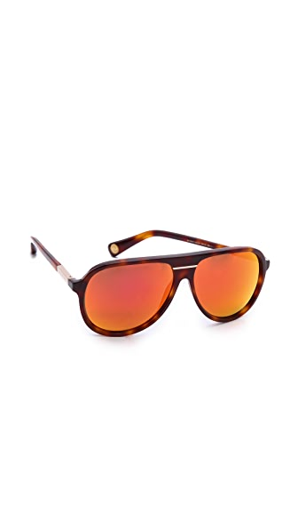 Marc Jacobs Sunglasses Mirrored Aviator Sunglasses