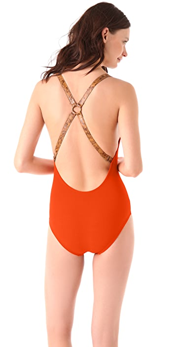 Michael Kors Collection Voyager Cross Back Maillot