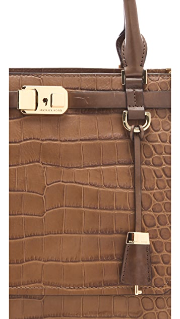 Michael Kors Collection Blake Embossed Satchel