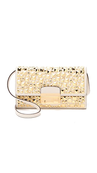 Michael Kors Collection Studded Lock Clutch