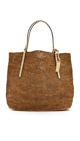 Michael Kors Collection Santorini Raffia Tote