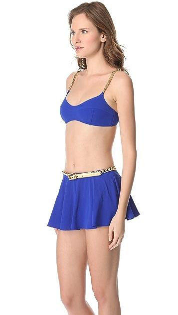 Michael Kors Collection Empire Chain Strap Bikini
