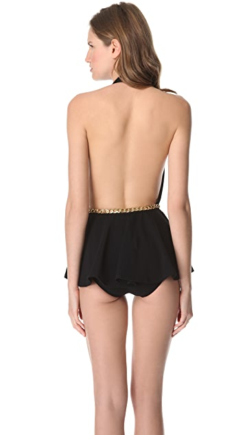 Michael Kors Collection Empire Skirted Maillot
