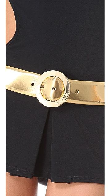 Michael Kors Collection Sun Deck Solids Monokini Swimdress