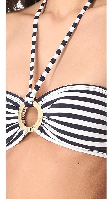 Michael Kors Collection Deck Stripe Bandeau Bikini