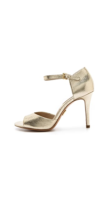 Michael Kors Collection Malia Metallic Sandals
