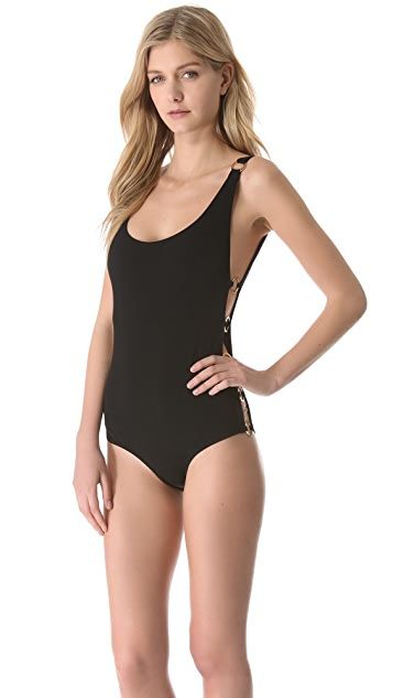 Michael Kors Collection Swimsuit with Side Cutouts