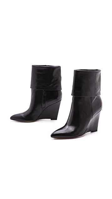 Michael Kors Collection Paycen Cuffed Wedge Booties
