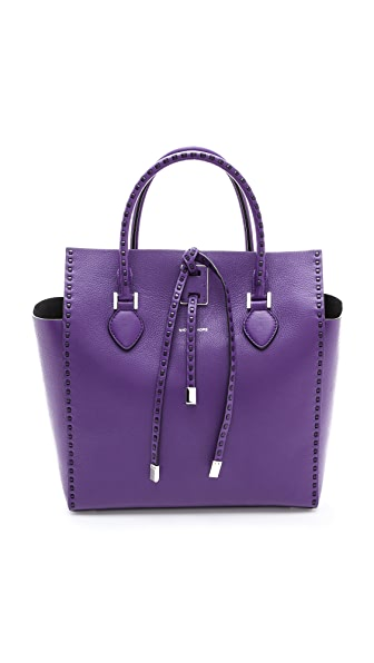 Michael Kors Collection Miranda Large Leather Stitch Tote