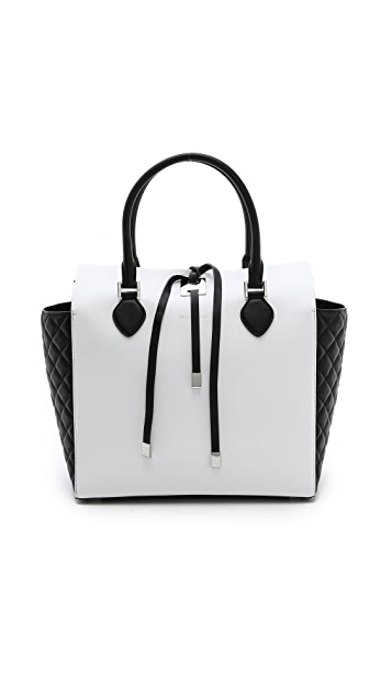 Michael Kors Collection Miranda Large Tote with Quilted Gusset