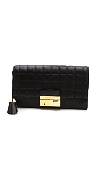Michael Kors Collection Gia Quilted Clutch with Lock