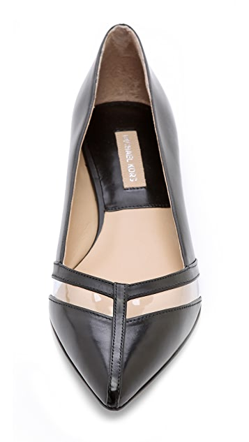 Michael Kors Collection Jodi Clear Inset Flats