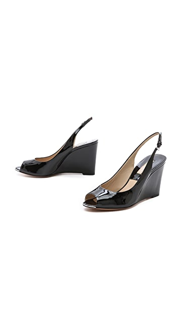 Michael Kors Collection Vikki Patent Slingback Wedges