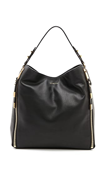 Michael Kors Collection Miranda Zips Shoulder Bag