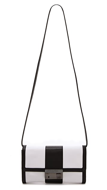Michael Kors Collection Gia Color Block Clutch with Lock