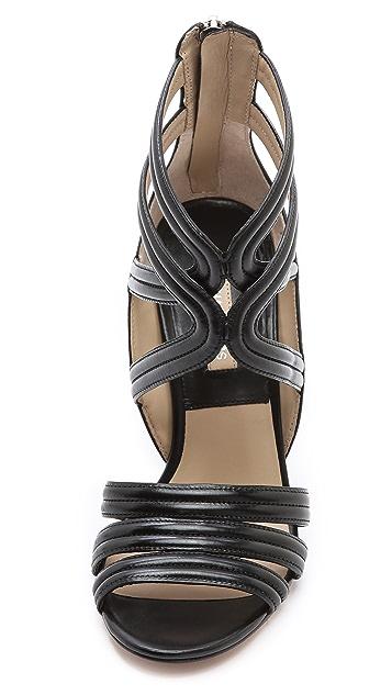 Michael Kors Collection Preston Cross Strap Sandals