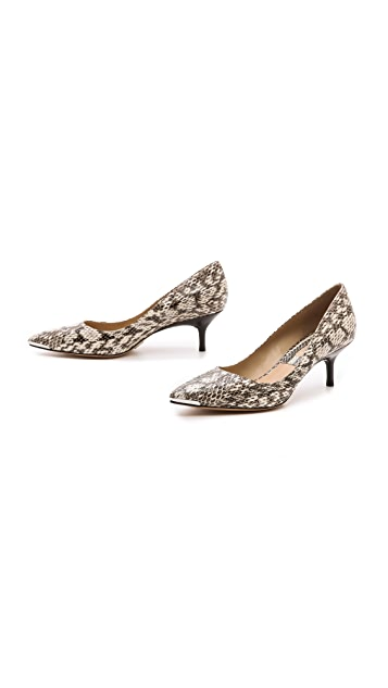 Michael Kors Collection Trisha Snakeskin Kitten Heels
