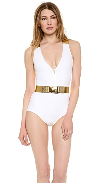 Michael Kors Collection Strapped In One Piece