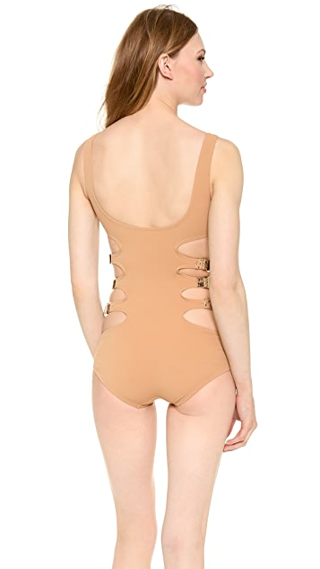 Michael Kors Collection Buckled Up One Piece