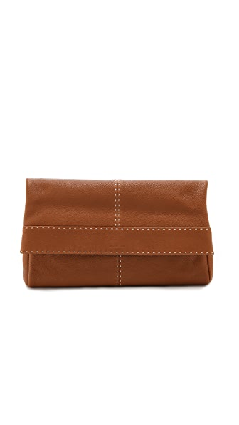 Michael Kors Collection Hutton Large Fold Over Clutch