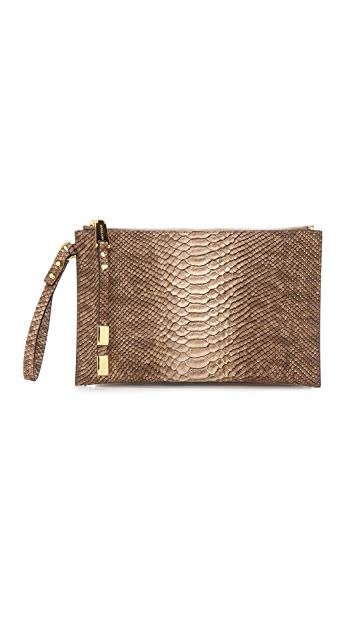 Michael Kors Collection Harlow Large Zip Clutch