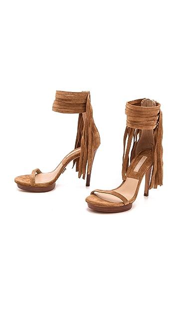 Michael Kors Collection Daphne Fringe Sandals