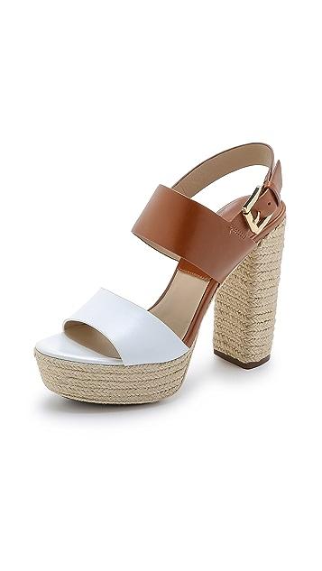Michael Kors Collection Summer Platform Espadrille Sandals