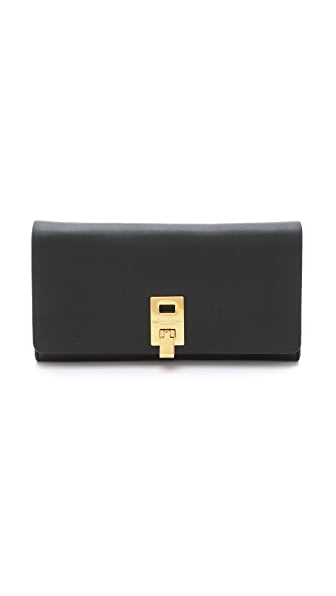 Michael Kors Collection Miranda Continental Wallet In Black