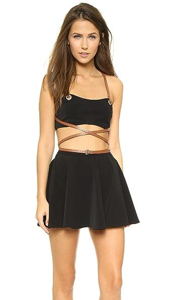 Michael Kors Collection Strappy Wrap Skirt Bikini