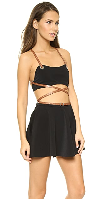 Michael Kors Collection Strappy Wrap Skirt Bikini