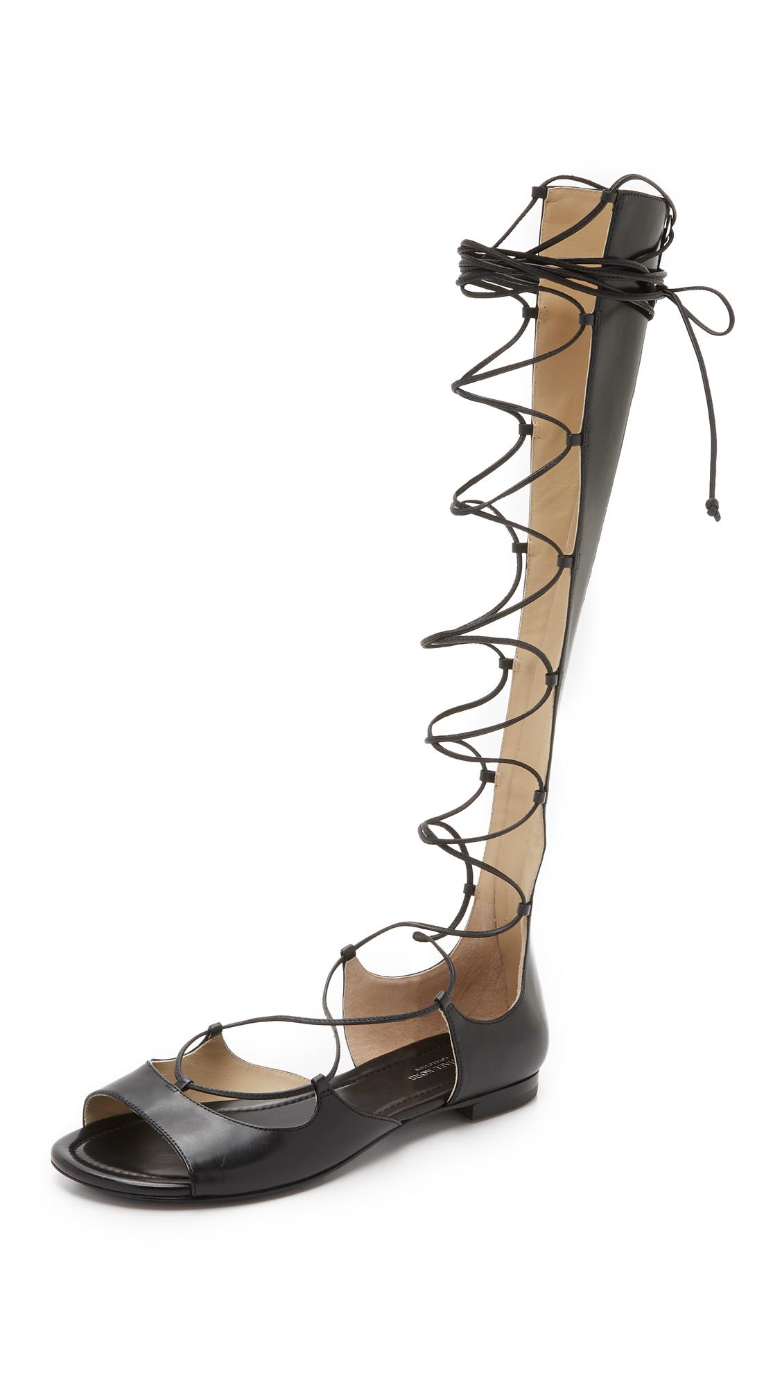 michael kors female 188971 michael kors collection birdie lace up gladiator sandals black