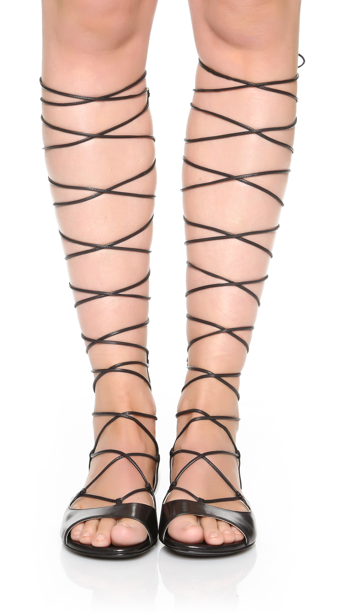 bab23c767626 Michael Kors Collection Birdie Lace Up Gladiator Sandals