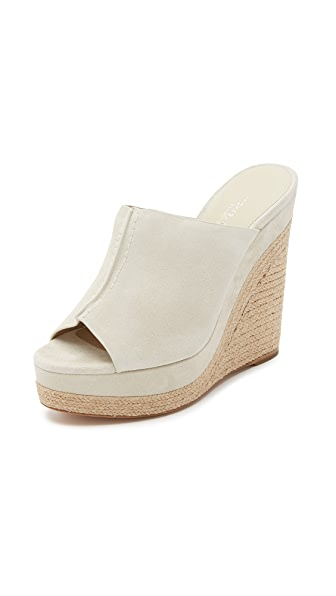 Michael Kors Collection Charlize Suede Wedge Mules