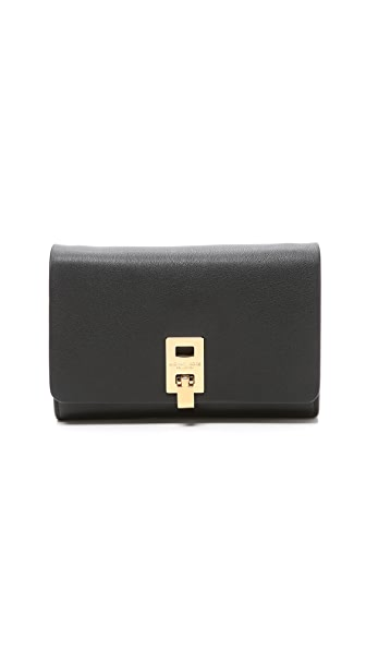 Michael Kors Collection Miranda Wallet with Strap - Black