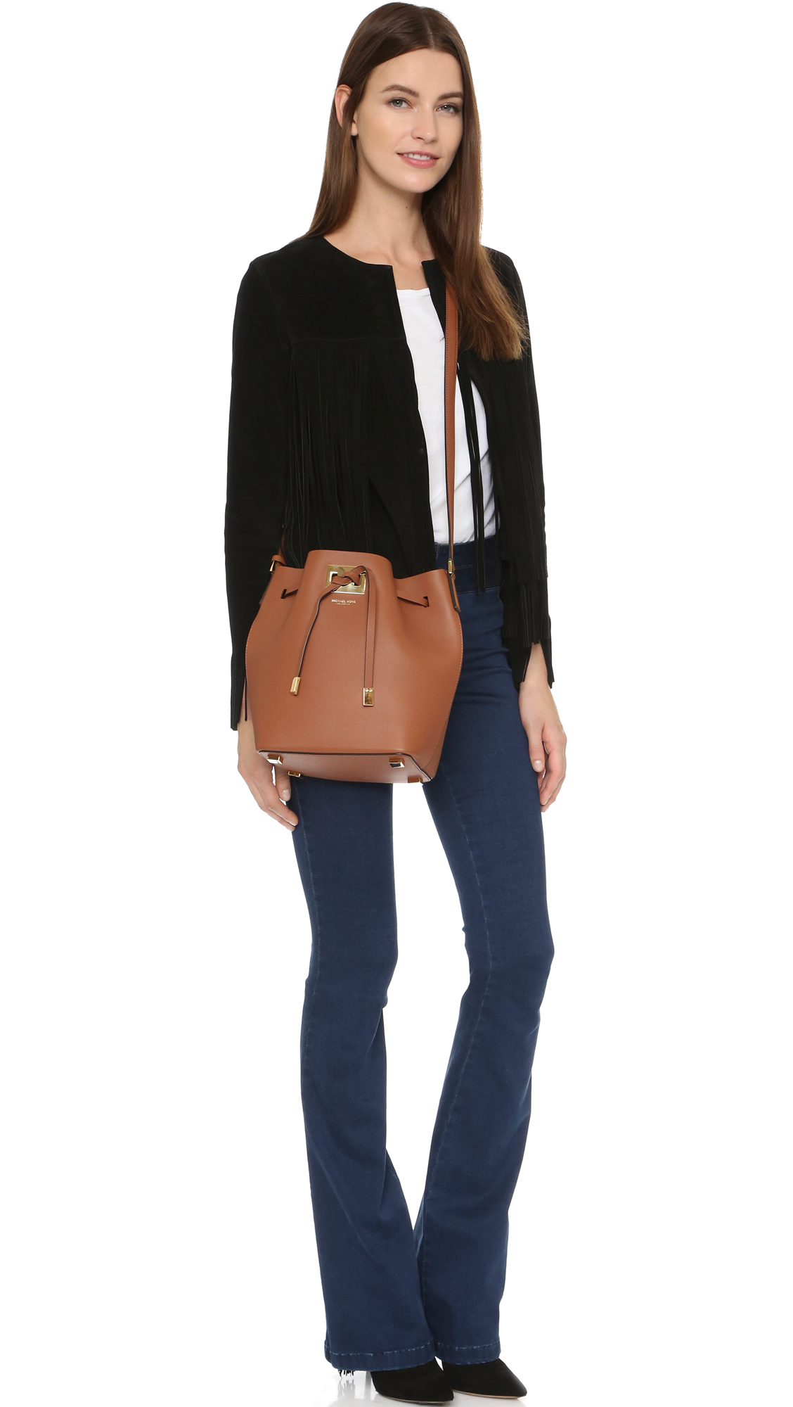 a07455b5ee3d69 Michael Kors Collection Miranda Medium Bucket Bag | SHOPBOP