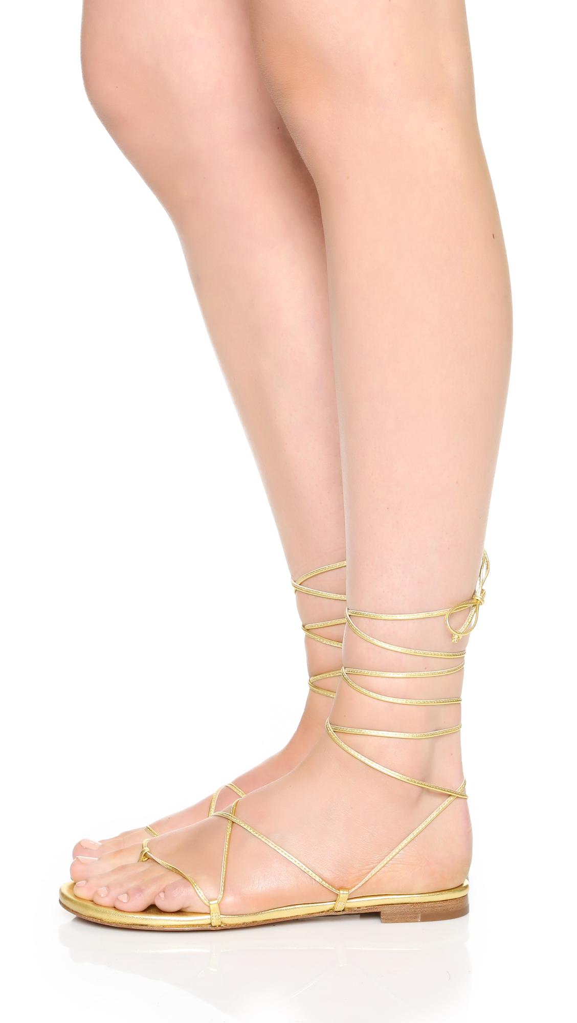 88eabf299ed7 Michael Kors Collection Bradshaw Lace Up Sandals