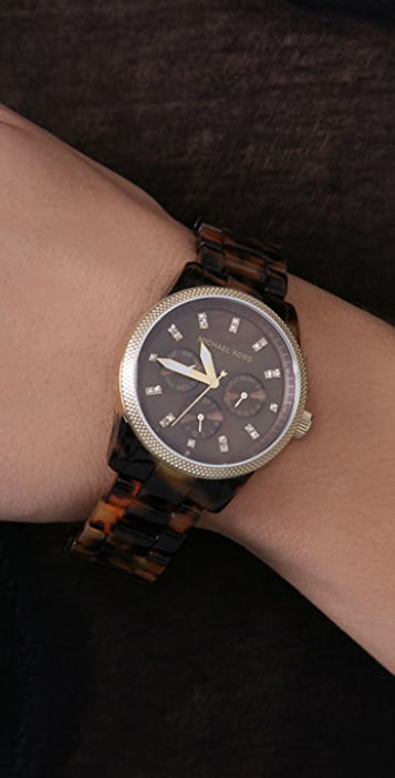 Michael Kors Tortoise Jet Set Sport Watch